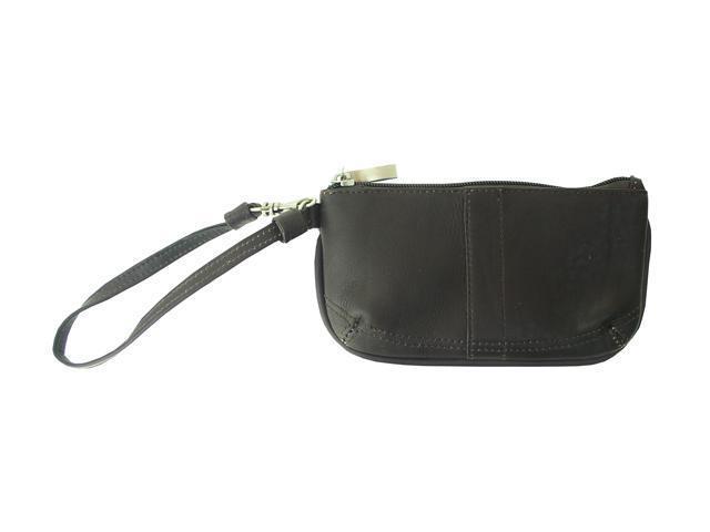 Piel LEATHER 2597-CHC Chocolate Ladies Wristlet Bag