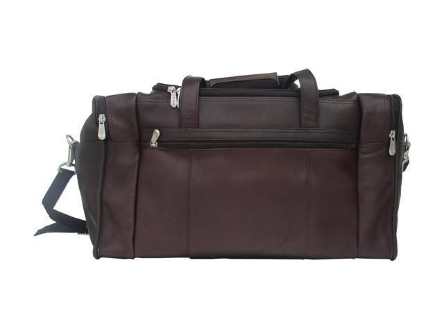 Piel LEATHER 2025CHC Travel Duffel W/ Side Pocket - Chocolate