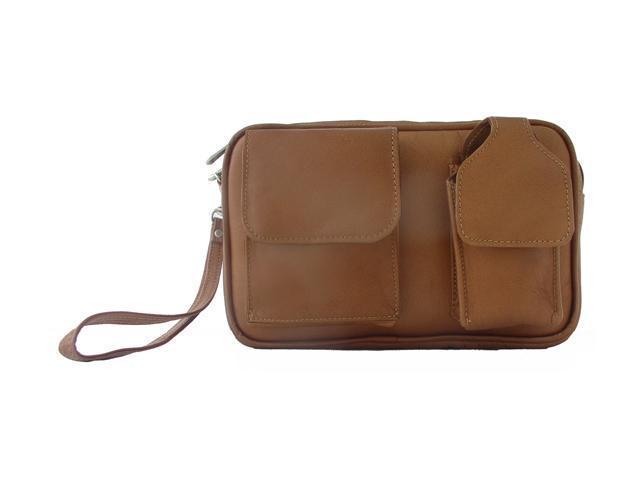 Piel LEATHER 2283-SDL Carry-All Men's Bag - Saddle
