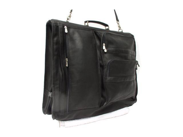 Piel LEATHER 9116-BLK Executive Expandable Garment Bag Black