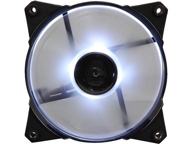 Cooler Master JetFlo 120 - POM Bearing 120mm White LED High Performance Silent Fan for Computer Cases, CPU Coolers, and Radiators