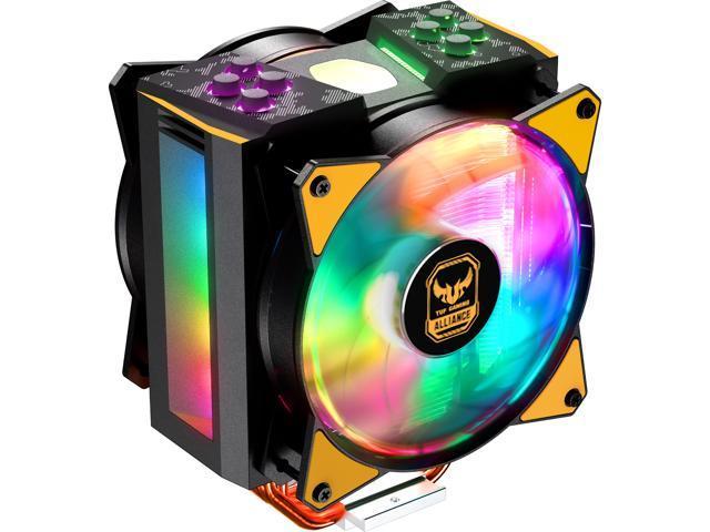 8e4109512f8 Cooler Master MasterAir MA410M TUF Gaming Alliance Edition Addressable RGB  LED CPU Air Cooler 4 Heatpipes