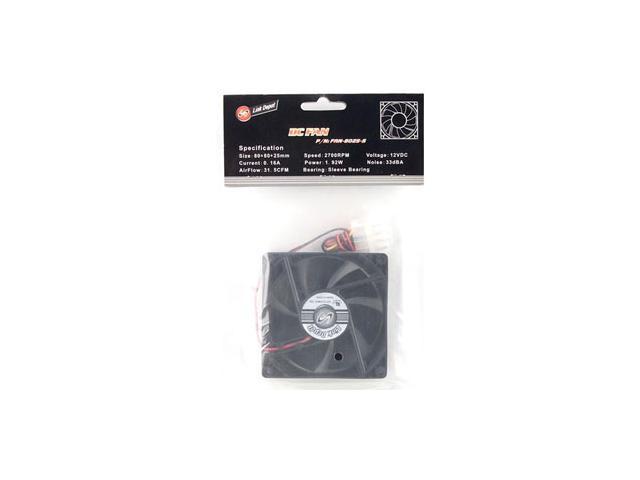 Link Depot FAN-8025-S Case Cooling Fan