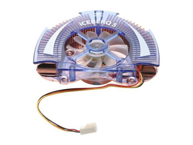 Vantec Iceberq 5 Copper VGA Cooling Kit with Blue LED Fan - Model CCB-A5C
