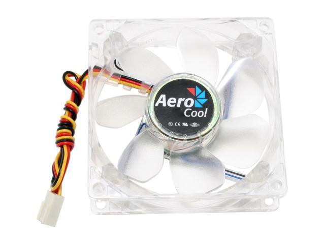 AeroCool Aerolite BB 80mm Blue LED Case Cooling Fan