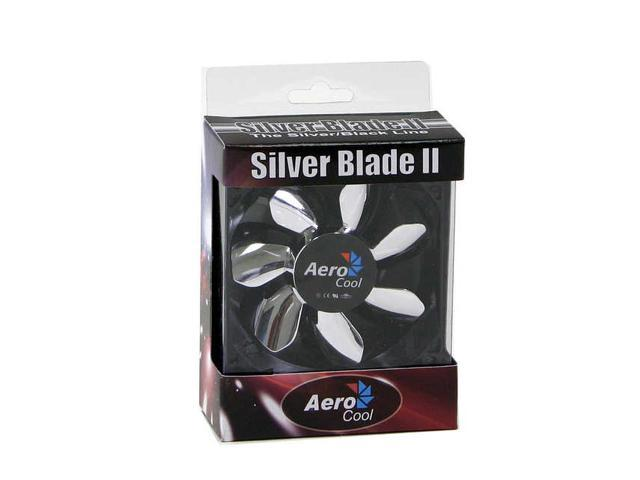 AeroCool Silver Blade II 80mm Purple LED Case Cooling Fan