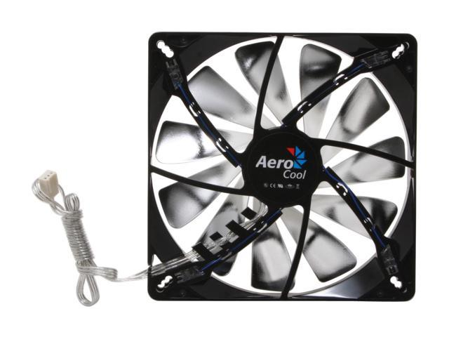 AeroCool Streamliner-Black 140mm Blue LED Case Cooling Fan