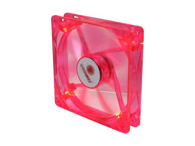COOLMAX CMF-1225-RD UV Crystal LED Cooling Case Fan