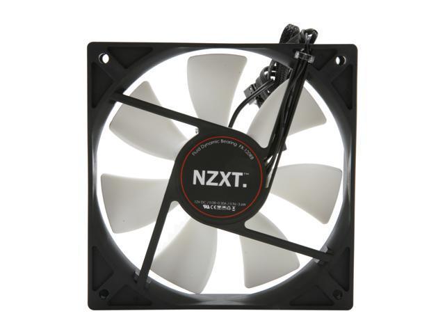 NZXT FX-120LB 120mm Enthusiast 3 Speed Fluid Dynamic Bearing 2600RPM Fan