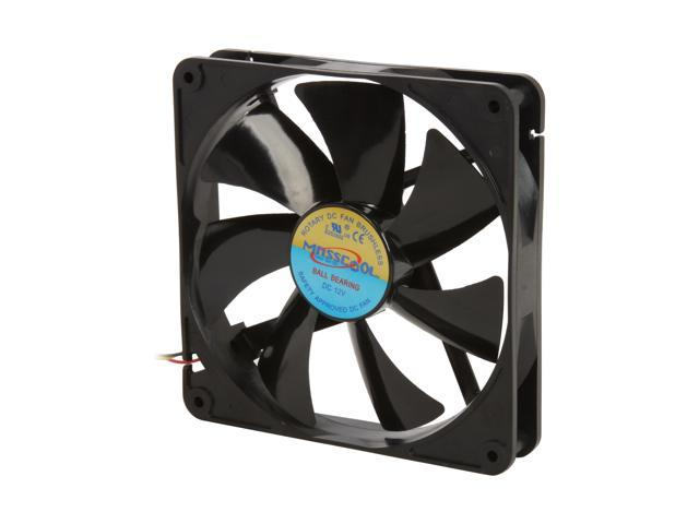 Masscool FD14025B1L3/4  140mm Ball bearing Case Fan w/ 3 Pins and 4 Pins Connectors - Retail