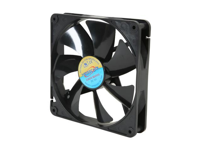 Masscool FD14025S1L3/4 140mm Sleeve bearing Case Fan w/ 3 Pins and 4 Pins Connectors - Retail