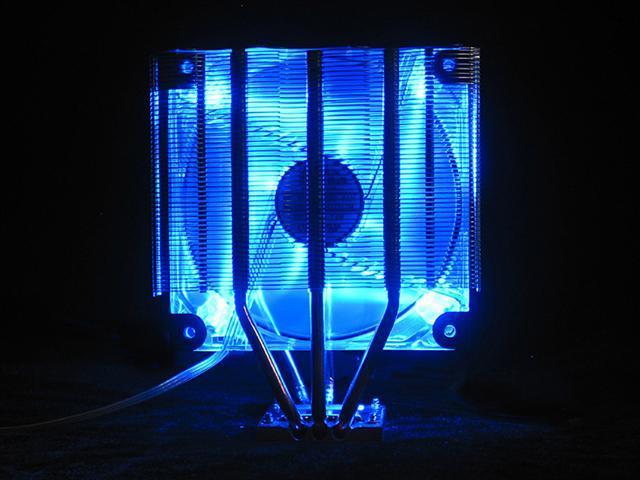 Tuniq Tower 120 Universal CPU Cooler 120mm LED Cooling Fan and Fan Controller/Heatsink
