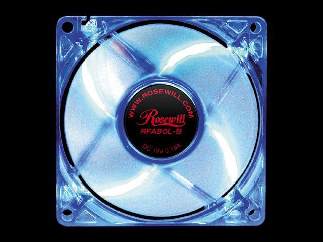Rosewill RFA80L-B 80mm Blue LED Case Fan