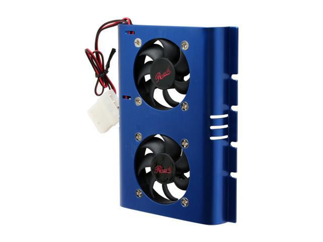 Rosewill RFHD-50BL Hard Drive Cooling 50mm*2 Aluminum Fans