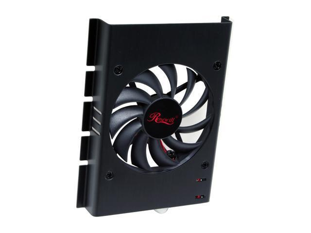 Rosewill RFHD-80BK 80mm Cooling Fan Aluminum HDD Cooler