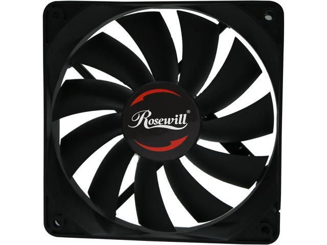 rosewill 120mm computer case cooling fan seal ip56 dust resistant