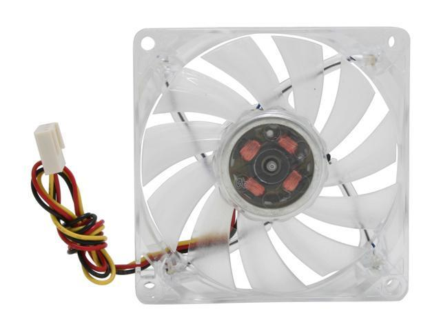 HIPER HFF-1R08N Red LED 80mm Transparent Case Fan