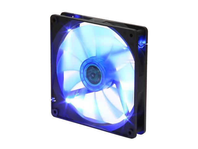 APEVIA  CF14SL-BBL  140mm UV blue LED fan w/3-pin and 4-pin connectors and black grill