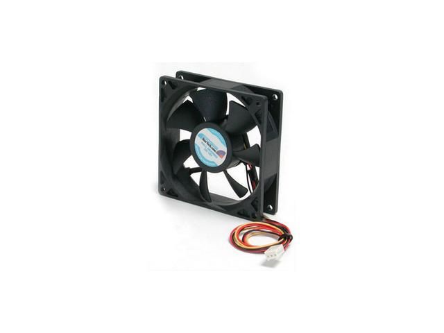 StarTech.com 9.25cm Ball Bearing Quiet Computer Case Fan with TX3 Connector FAN9X25TX3L (Black)