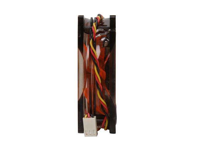 XIGMATEK FCB (Fluid Circulative Bearing) Cooling System Crystal Series XLF-F8253 80mm LED Orange Case Fan PSU Molex Adapter/extender included