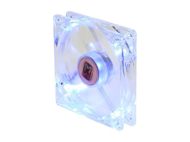 XIGMATEK FCB (Fluid Circulative Bearing) Cooling System Crystal Series CLF-F1251 120mm Blue LED Case Fan  PSU Molex Adapter/extender included