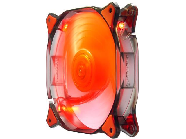 COUGAR 12CM CFD Red LED Hydraulic (Liquid) Bearing Ultra Silent Fan 1200RPM, 64.4CFM, 16.6dBA