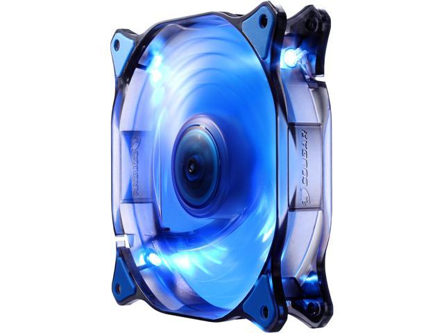 COUGAR 14CM CFD Blue LED Hydraulic (Liquid) Bearing Ultra Silent Fan 1000RPM, 73.2CFM, 18dBA - Retail