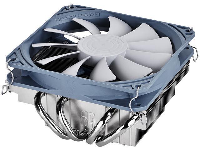 DEEPCOOL Gamer Storm GABRIEL CPU Cooler 4 Heatpipes Low Profile HTPC SFF Cooler 120mm PWM Fan Slim and Silent