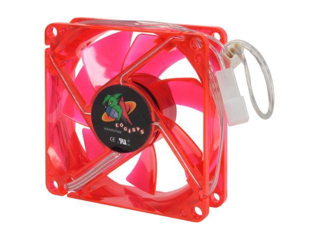 LOGISYS Computer LT80UVRD 80mm UV Red LED Case cooler