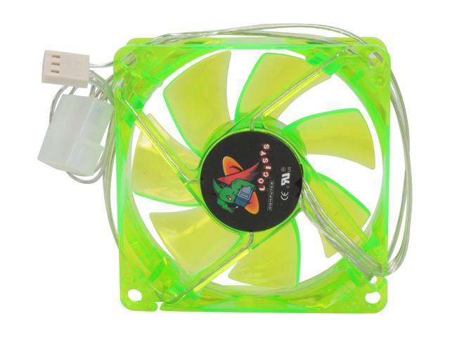 LOGISYS Computer LT80UVGN 80mm UV Green LED Case cooler
