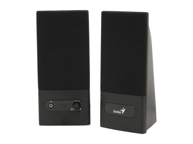 Genius SP-F120 2W RMS 2.0 Black F-Series Stereo Speakers