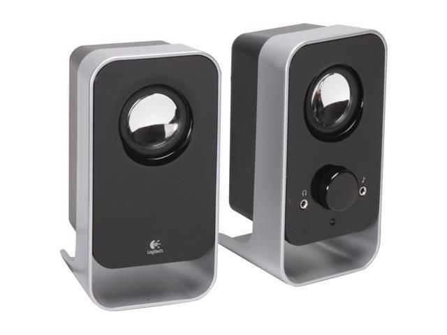 Logitech LS11 3 Watts RMS (FTC) 2.0 Stereo Speaker System - Black