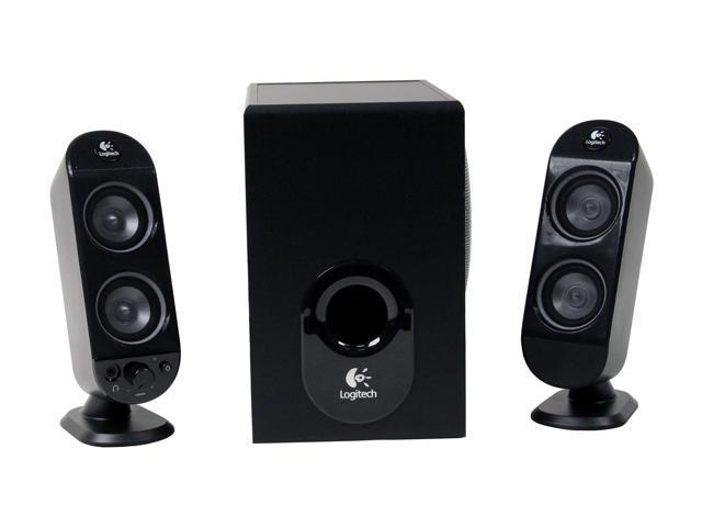 Logitech X-230 32 watts RMS 2.1 Black Speaker System - OEM