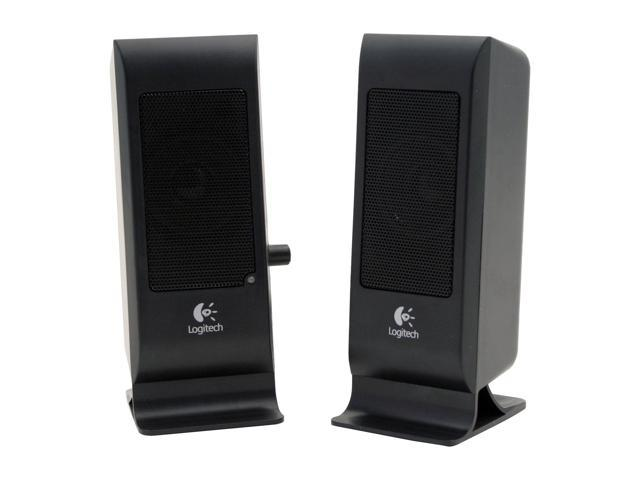 Logitech S-100 BLK 5 Watts RMS 2.0 Speaker System - OEM