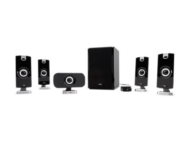 Cyber Acoustics CA-5402 40Watts 5.1 5 Piece Flat Panel Design Subwoofer & Satellite Speaker System