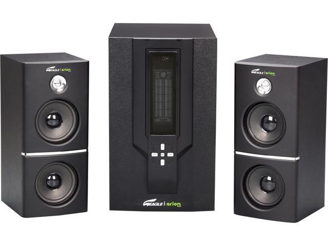 Eagle ET-AR504LR-BK 35 Watts RMS 2.1 Black Soundstage Speakers