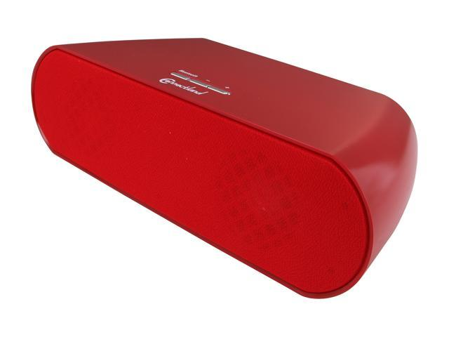 SYBA Connectland CL-SPK23022 Bluetooth V2.1+EDR Wireless Stereo Speaker in Red, Powered by Batteries or AC Adapter