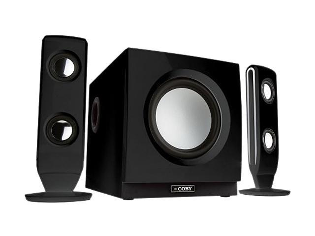 COBY CS-MP77 75 Watts 2.1 Black 75 Watts High-Performance Speaker System for Digital Media Players