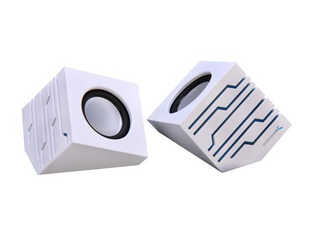 Sabrent SP-USLW White USB-Powered Stereo Speakers