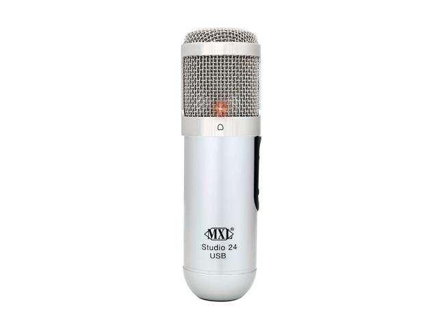 MXL MXL-STUDIO 24 USB Whilt, Silver USB Connector 24-bit USB Microphone