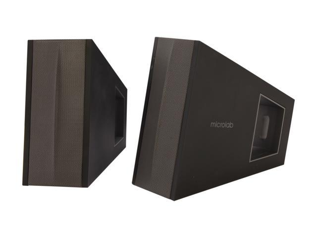 Microlab SP-FC10BK 2.0 Triangle DSP Compact Speaker (Black)