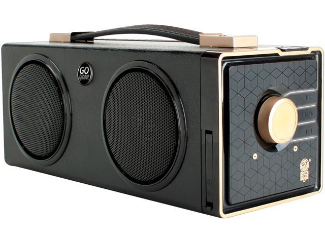 GOgroove SonaVERSE BXL Portable Speaker Boombox with 7 Hour Rechargeable Battery, 3.5mm AUX port and Dual Drivers - Works with Apple, Samsung, LG, Sony and More Smartphones and Tablets