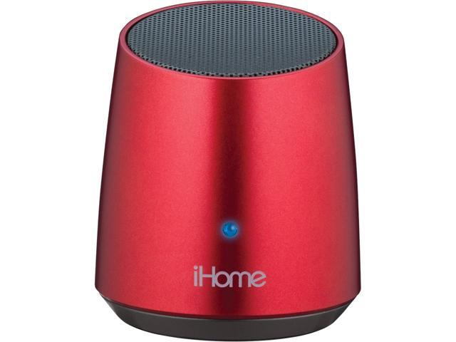 iHome iBT69 Speaker System - 3 W RMS - Wireless Speaker(s) - Red