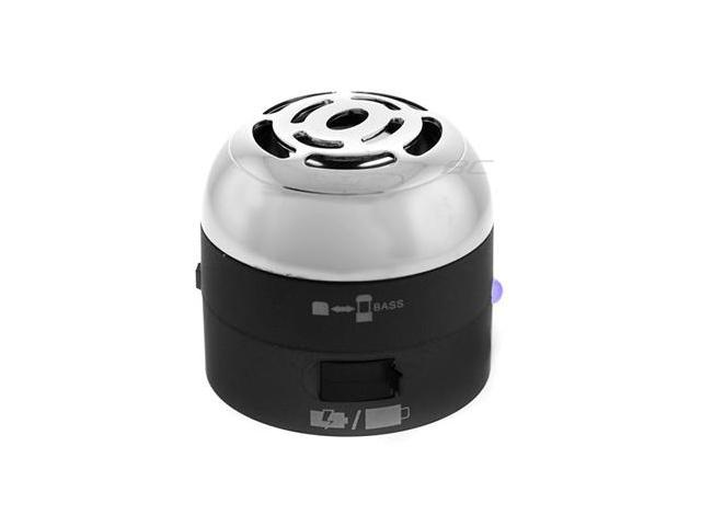 Go Rock Black Mini Portable Speaker w/ Retractable Cables (TRMS02MC-BK)
