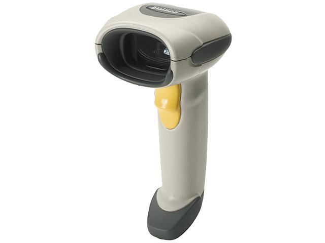 Motorola LS4208-SBZU0100ZR Barcode Scanner (White) – USB Cable Included