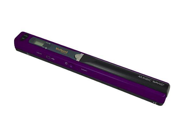 VuPoint PDS-ST415PU-VP Color Contact Image Sensor Mobile Standard Res.: 300x300dpi (default); High Res.: 600x600dpi Purple Magic Wand Refurb