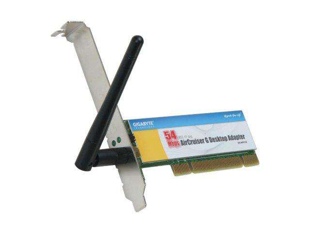 GIGABYTE GN-WP01GS Wireless Adapter IEEE 802.11b/g PCI Up to 54Mbps Wireless Data Rates WPA