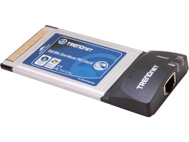 TRENDnet RB-TE100-PCBUSR 10/100Mbps 32-Bit CardBus Fast Ethernet Card with Xpress Port