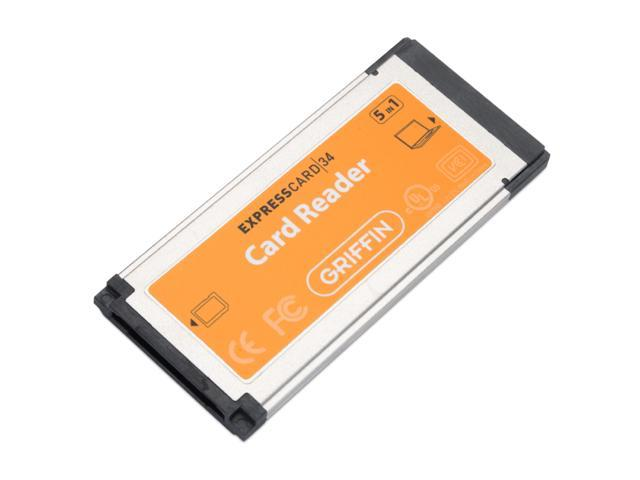 GRIFFIN ExpressCard/34 Slot 5-in-1 Card Reader Model 1095-XCRDR