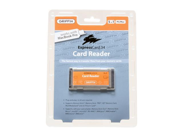 GRIFFIN ExpressCard/34 Slot 5-in-1 Card Reader Model 1095-XCRDR